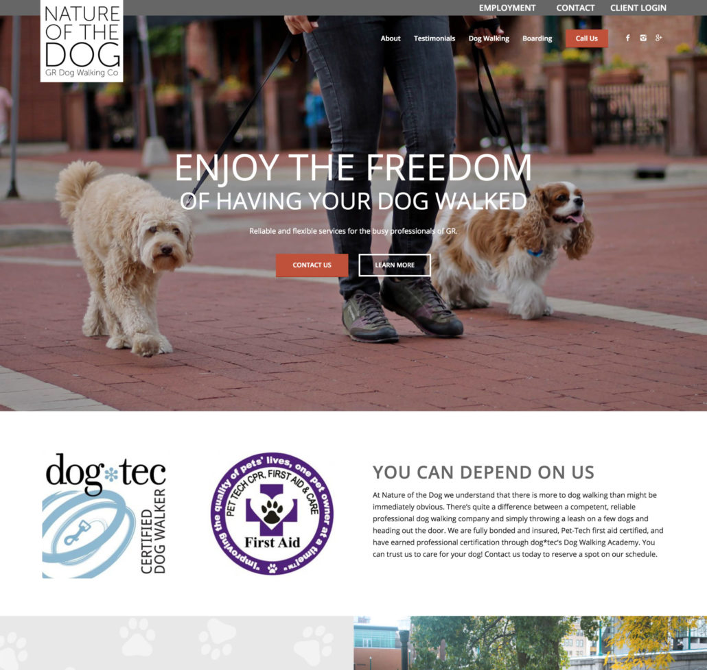 Nature Of The Dog Grand Rapids Dog Walking Boarding Sevices